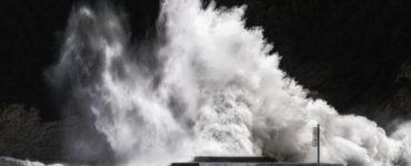 Big storm waves