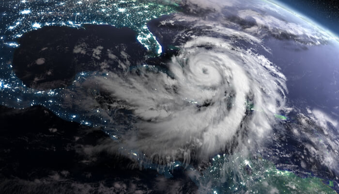 Hurricane from orbit