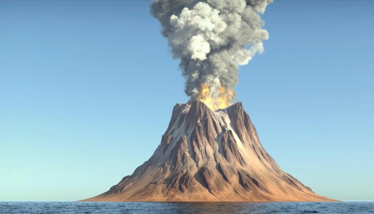 Erupting-Volcano