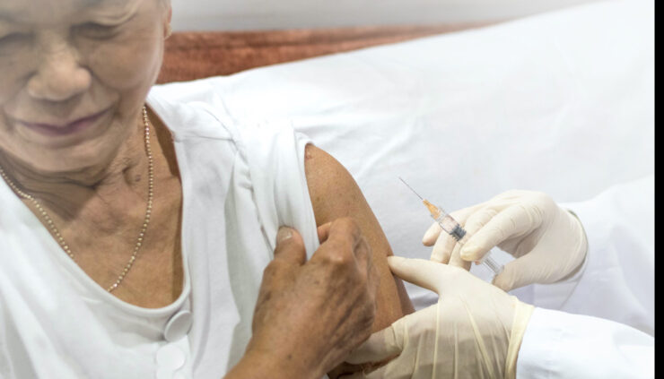 Elderly-Woman-Receiving-Vaccine