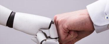 Robot,-human,-fist-bump