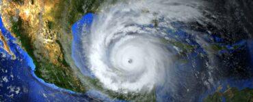 a large hurricane threatening landfall