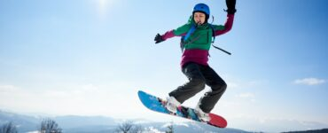 a snowboarder on a mountain