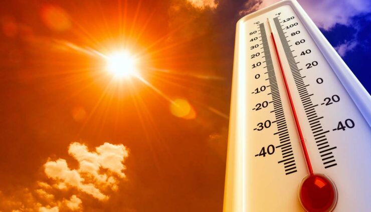 hot summer temperatures