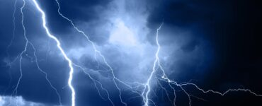 lightening during a summer storm