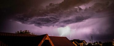 lightning storm over a residential area 2