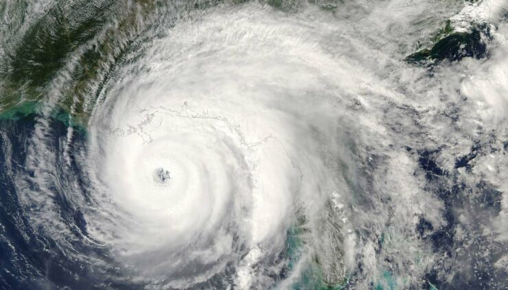 category 5 super typhoon from satellite view