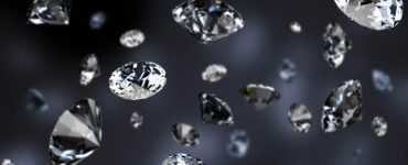 diamond rain on a dark background