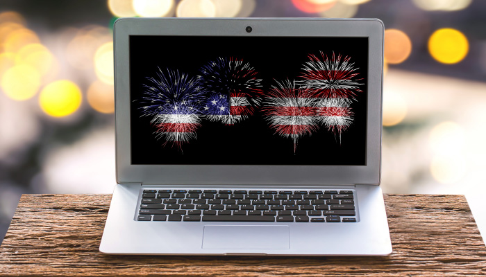 Fireworks-on-Laptop