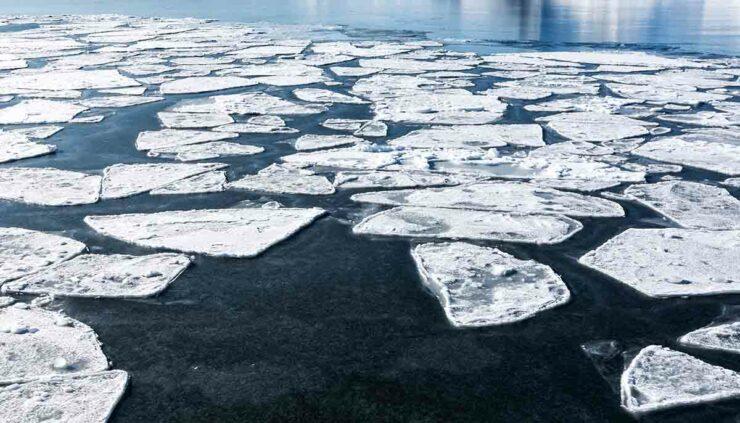 Arctic ice landscape