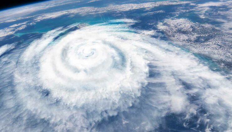 image of hurricane from satellite