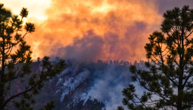 a wildfire in colorado