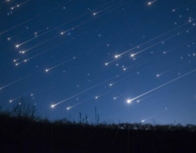 concept of meteor shower