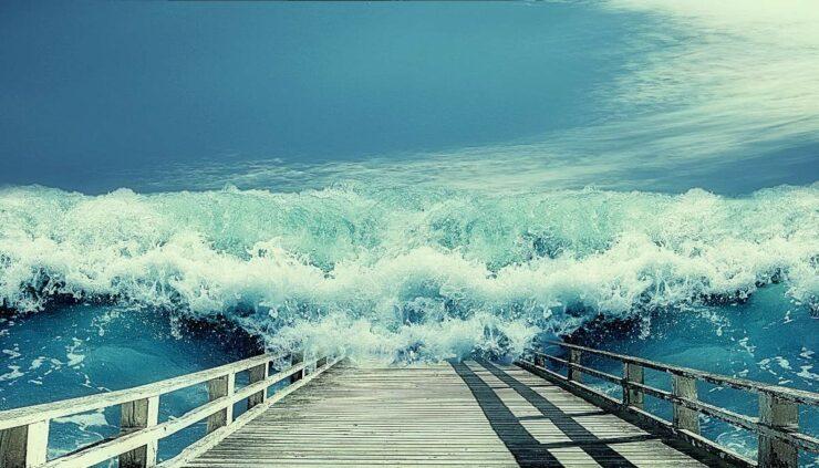 a storm surge