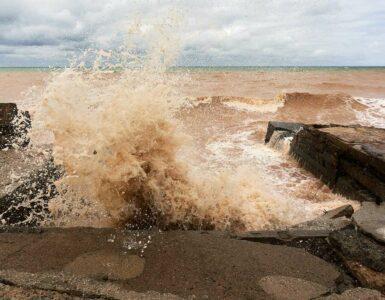 stormy ocean waters