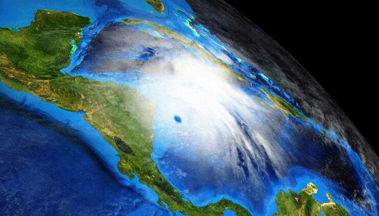 Hurricane Eta shot from space