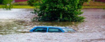 car flooded underwater