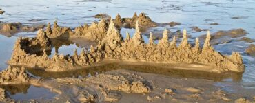 washed away sand castle