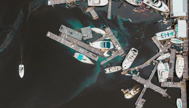 damage to a dock after a hurricane