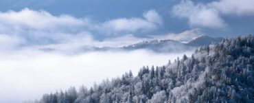 Great Smoky Mountains covered in snow