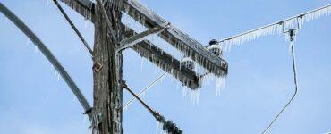 frozen power lines