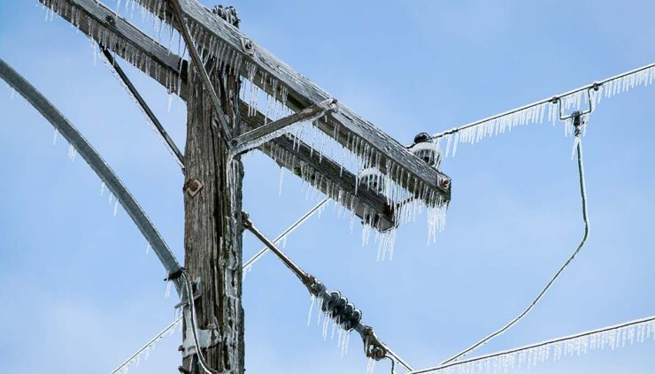 frozen power lines