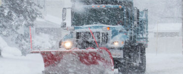 snow plow during a storm