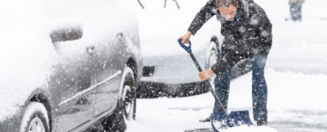 Digging out cars after a snow storm