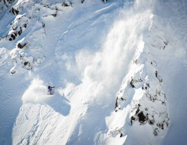 skier caught in snow avalanche