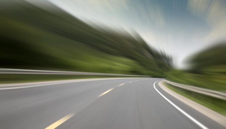 windy highway concept