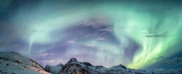 Northern lights above Arctic Circle