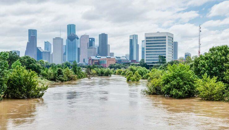 Houston flooded