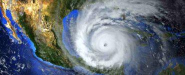 Massive hurricane in Gulf of Mexico