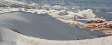 snow on the Sahara