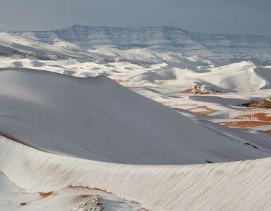snow on the Sahara