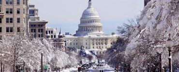 Washington, D.C., in the snow