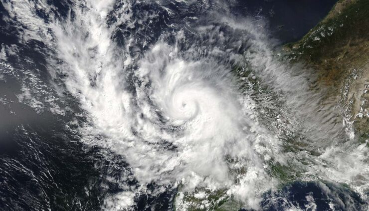 Storm seen from space