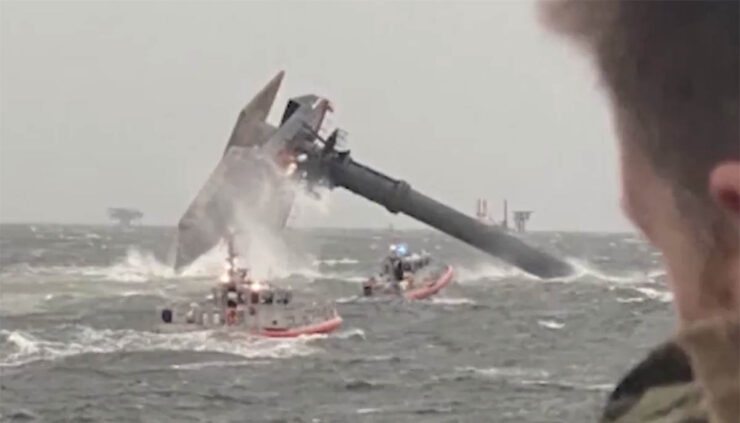 coast guard looks for survivors