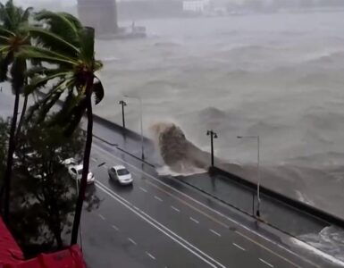 cyclone causes strong winds rough seas