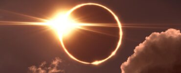 """Eclipse showing a """"ring of fire"""""""