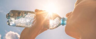 drinking water in the sun